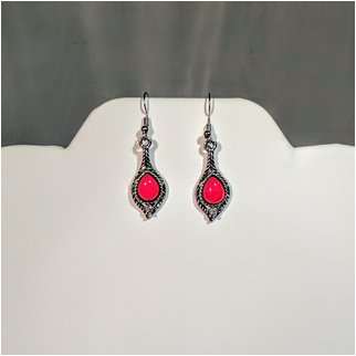 Product thumbnail: Red Stone Drop Earings