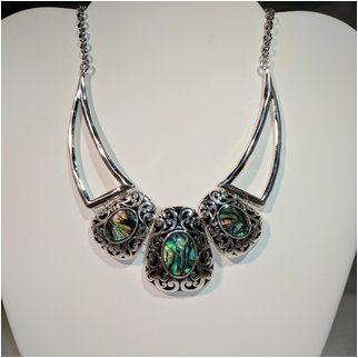 Product thumbnail: Cluster Multi Green Necklace