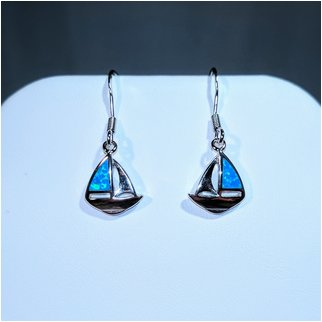 Product thumbnail: Sailboat Earrings with Opal