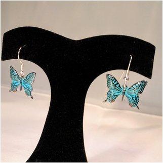 Product thumbnail: Blue Drop Butterfly Earrings