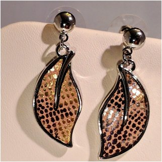 Product thumbnail: Silver And Gold Drop Earrings