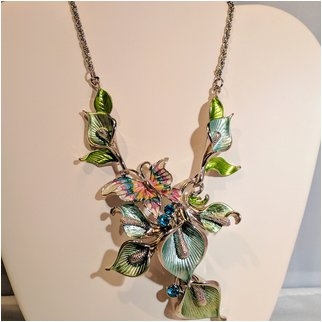 Product thumbnail: Butterfly Necklace with Rhinestones