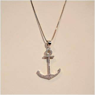 Product thumbnail: Anchor With Cubic Zirconia