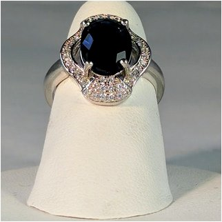 Product thumbnail: Blue Crystal Ring with Cubic Zirconia