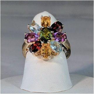 Product thumbnail: Peridot Surround by Multicolored Gems