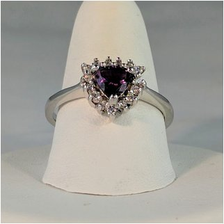 Product thumbnail: Amethyst Trillon Shape with CZ