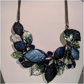 Product thumbnail: Blue Leaves with Rhinestones