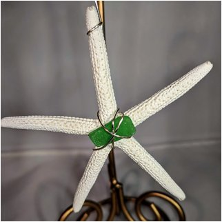 Product thumbnail: Starfish with Green Seaglass