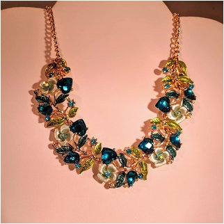 Product thumbnail: Hearts and Flowers Blue and Green