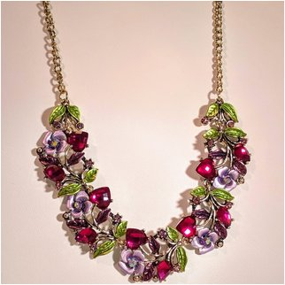 Product thumbnail: Hearts and Flowers Pink Lavender and Green