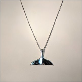 Product thumbnail: Whale Tail Necklace Large Pendant