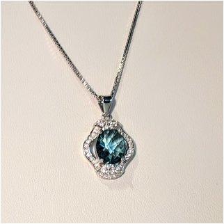 Product thumbnail: Blue CZ Necklace