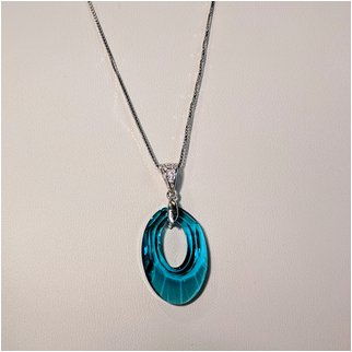 Product thumbnail: Light Blue Swarovski Crystal Necklace