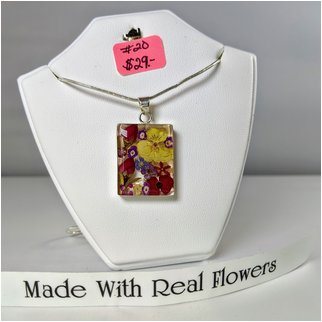 Product thumbnail: #20 Made with Real Flowers Necklace