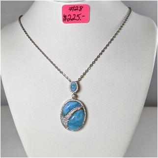 Product thumbnail: #28 Larimar Necklace