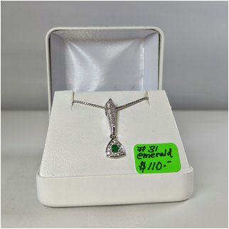 Product thumbnail: #31 Emerald Necklace