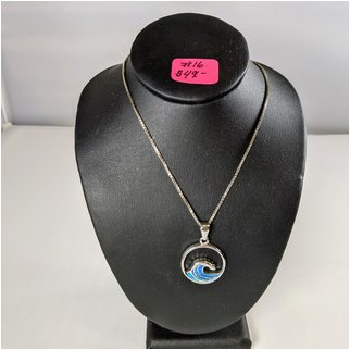 Product thumbnail: #16 Opal Wave Sterling Necklace