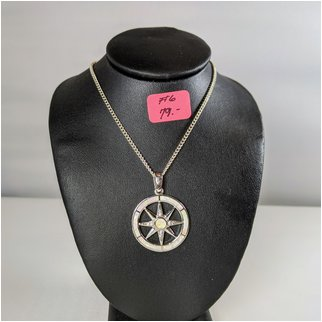 Product thumbnail: #06 White Opal Compass Rose Necklace