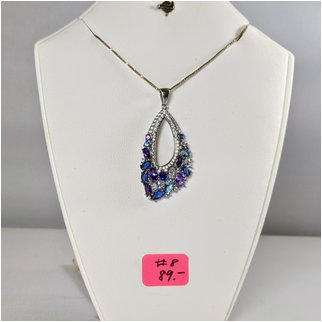 Product thumbnail: #08 Amethyst and Blue Topaz Necklace