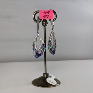 Product thumbnail: #09  Amethyst and Blue Topaz Earrings