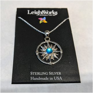 Product thumbnail: Blue Compass LeightWorks Necklace