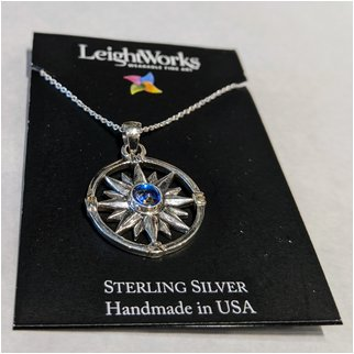 Product thumbnail: Purple Compass LeighWorks Necklace