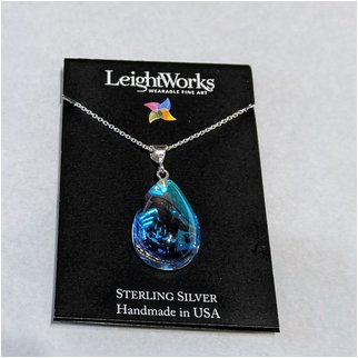 Product thumbnail: Crystal Pear Shaped LeightWorks Necklace