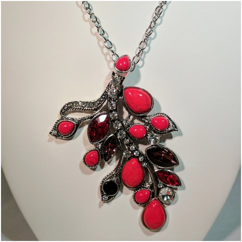 Red Crystal and Rhinestone Neckless