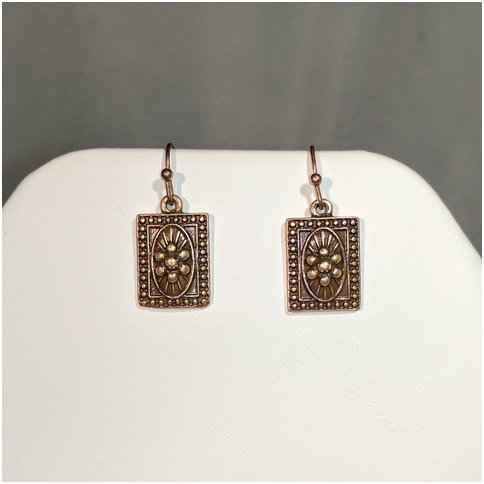 Square Flower Earrings