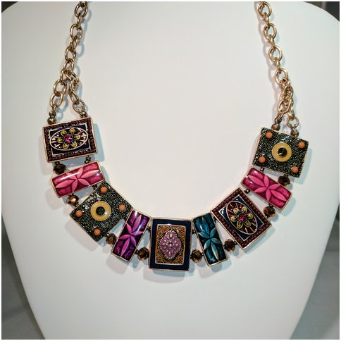 Multi Color Metal and Stones