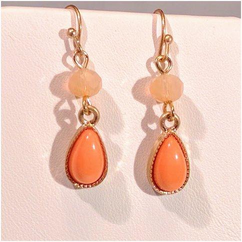 Orange Drop Earrings