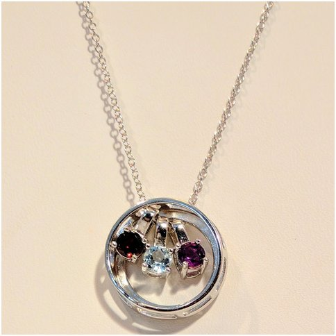 Circle Necklace with Interchangeable Stones