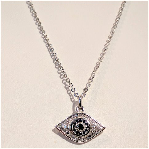 Evil Eye Necklace With Blue Stones