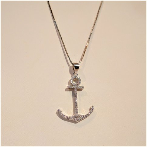 Anchor With Cubic Zirconia