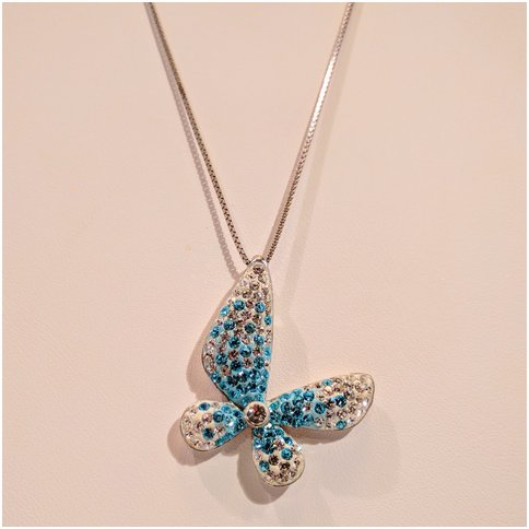 Butterfly with Blue Crystals