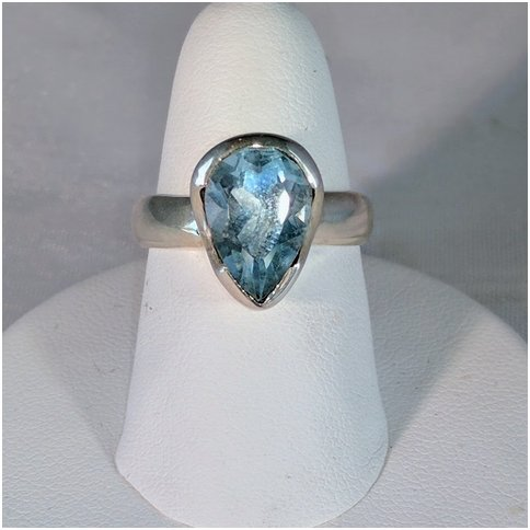 Blue Topaz Triangle Shape