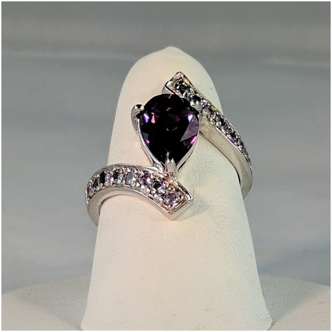Amethyst Marquise with CZ