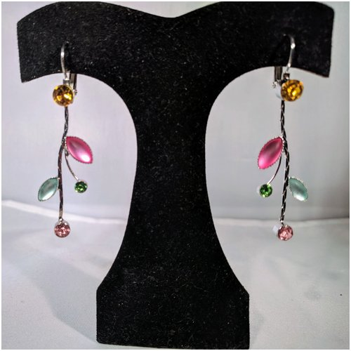 Flower Drop Earrings in Pastels