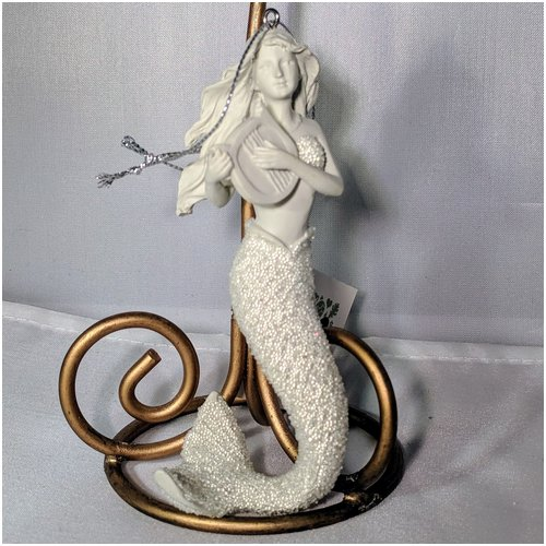 Mermaid Ornament with Harp