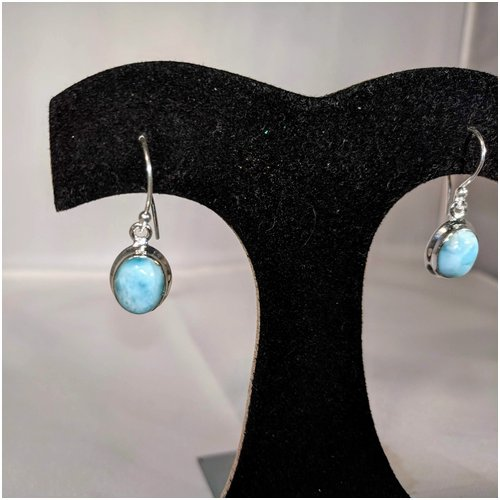 Larimar Drop Earrings