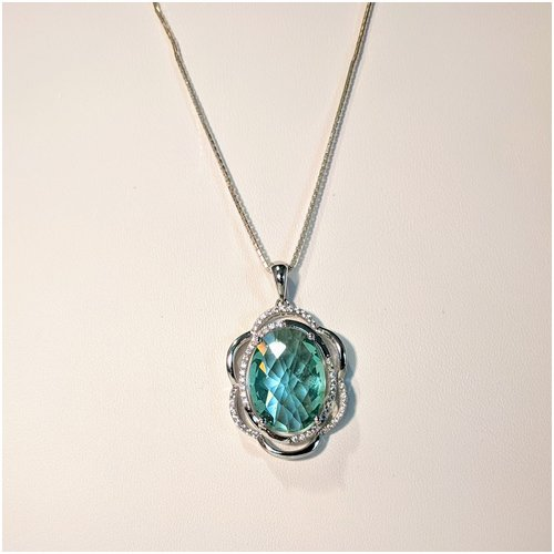 Teal CZ Necklace