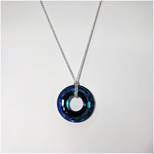 Circle Shape Swarovski Necklace