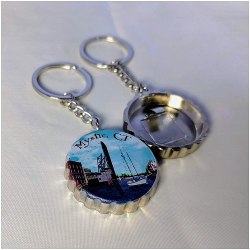 Mystic Drawbridge Keychain