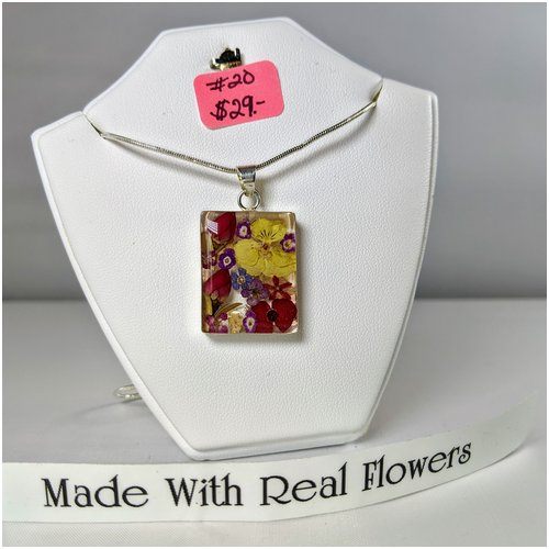 #20 Made with Real Flowers Necklace