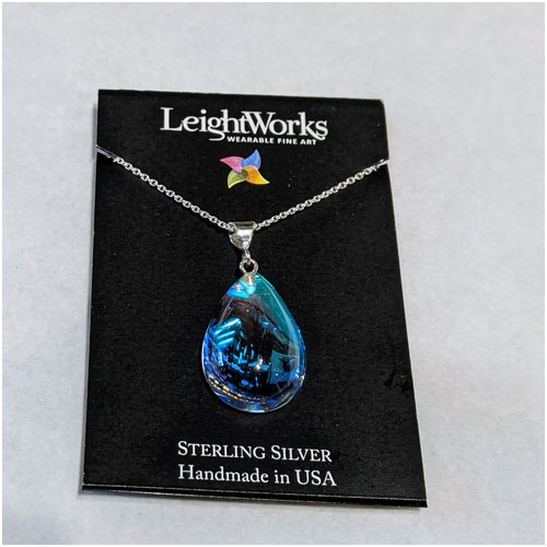 Crystal Pear Shaped LeightWorks Necklace