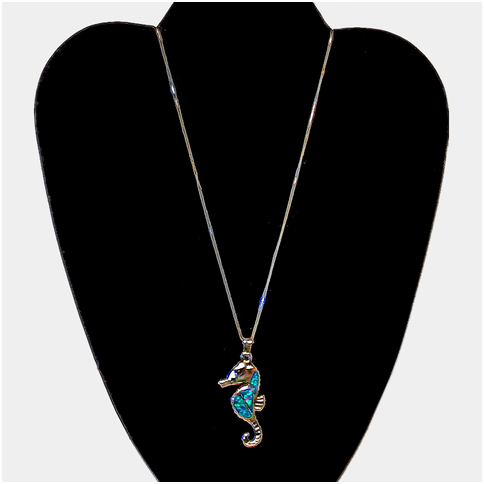 Seahorse With Opal