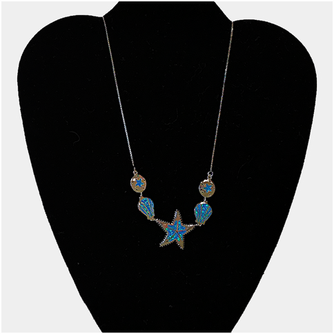 Starfish and Shells With Opal