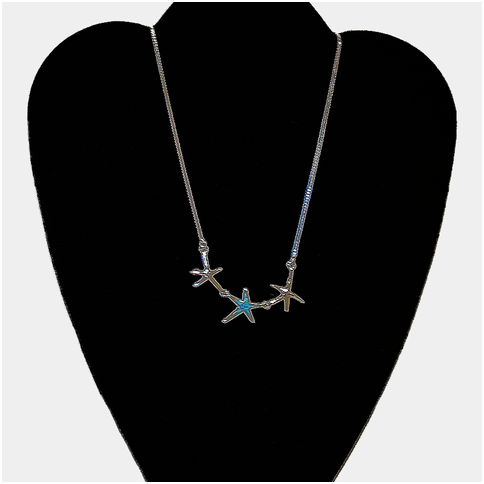 Starfish Trio With Opal