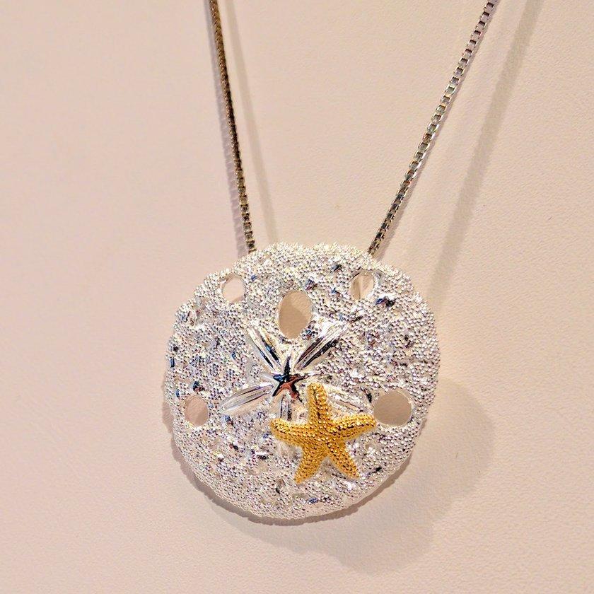 Sand Dollar with Starfish