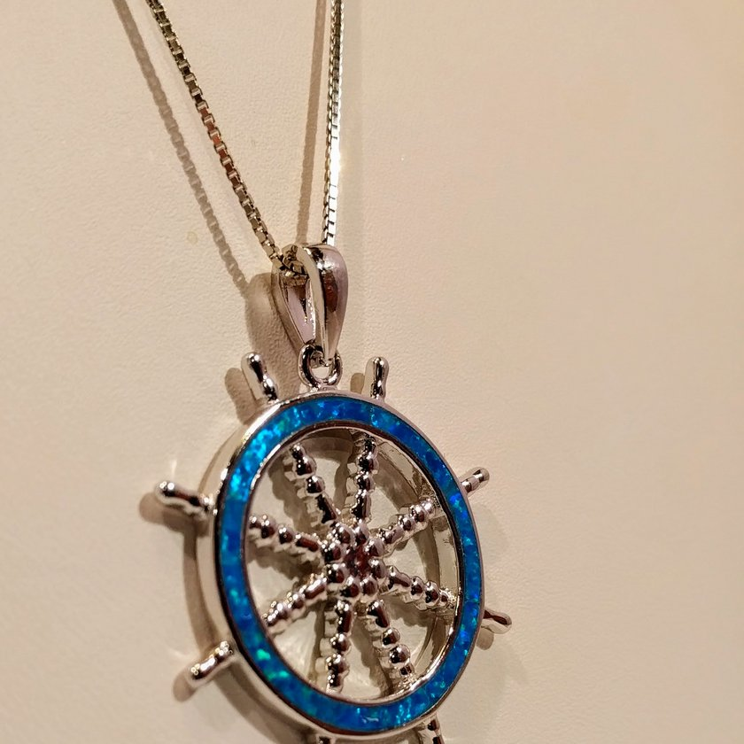 Ships Wheel with Opal